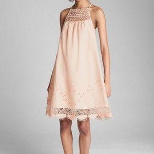 NWOT Gap Crocheted Cami Dress Wispy Pink Sz M